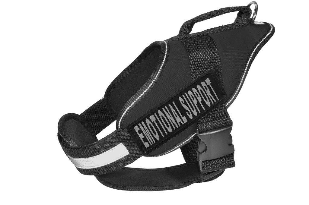 Dogline N0206-1-0232 Alpha Nylon Service Vest Harness, Medium, Black