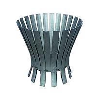 Feuerkorb Corten bronze XXL Fire Basket ✔ rund ✔ rostig (Edelrost)