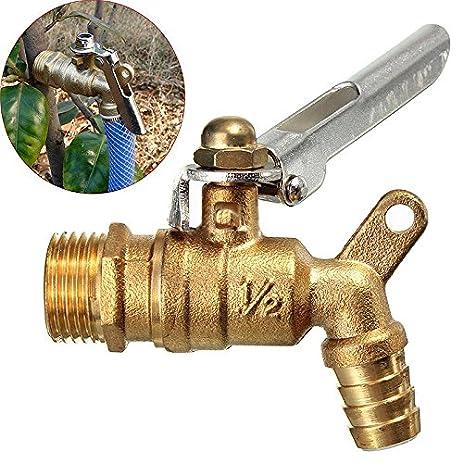 Amazon.com: Public Places Lockable 1/2 inch Faucet Locked Brass ...