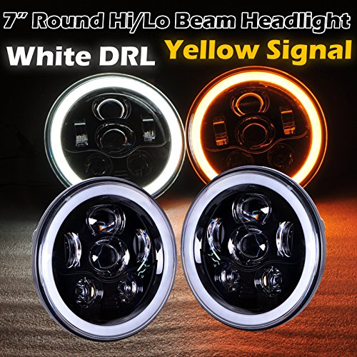 yellow 7 inch headlight - 4
