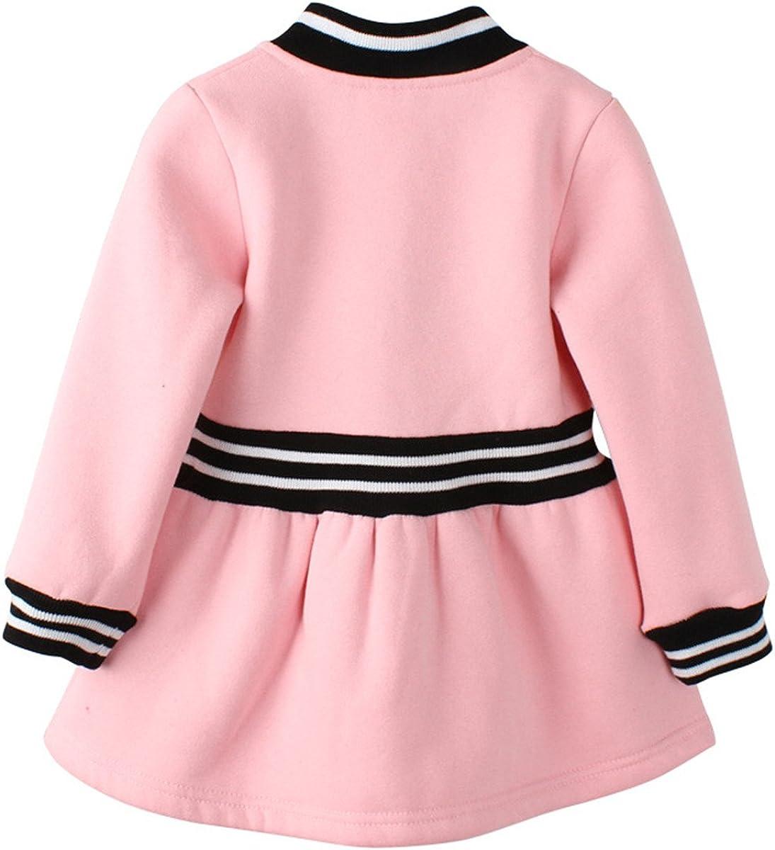 Yanzi6 Baby Girls Long Sleeve Jacquard Coat Dress