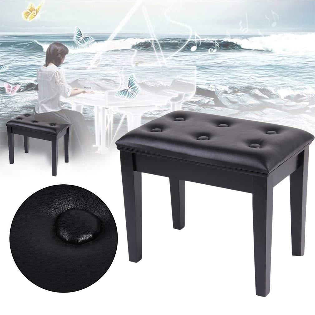 Sgabello da pianoforte imbottito in legno per tastiera KATHER Black B tavolo da toeletta