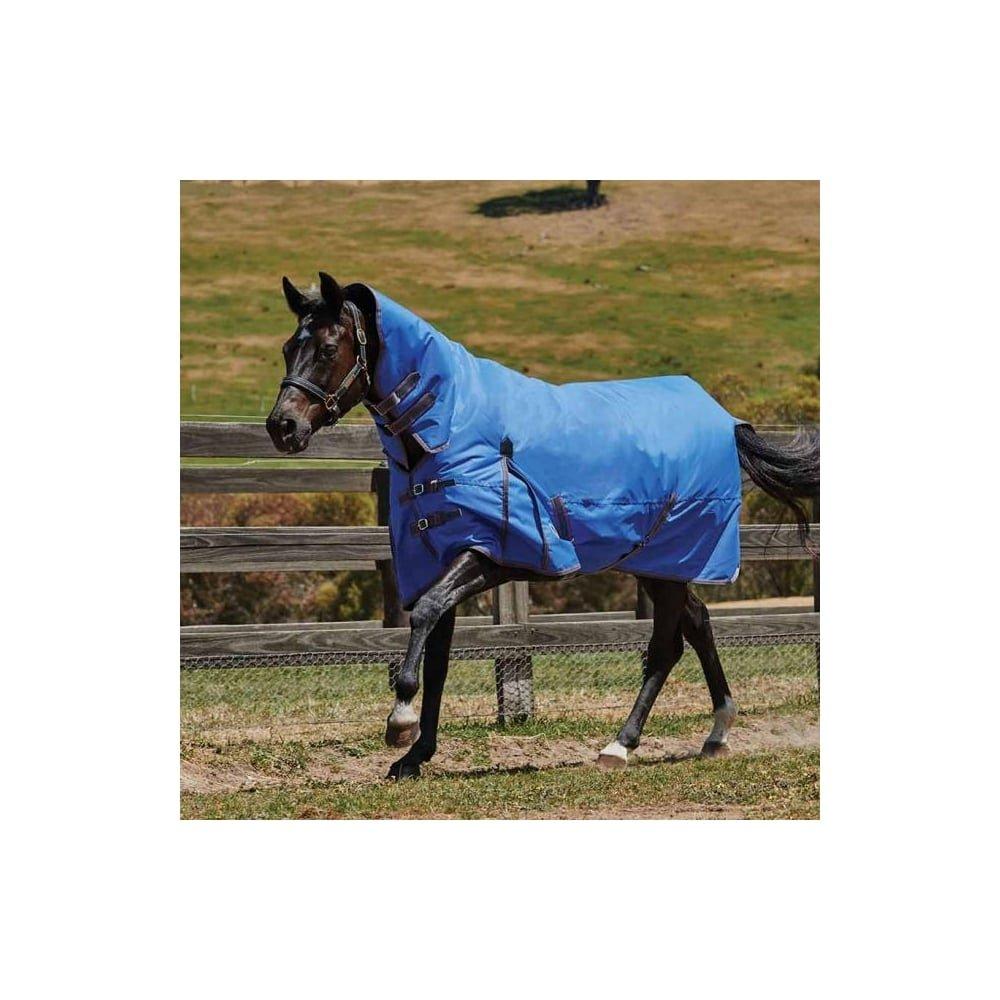 4'3 WEATHERBEETA COMFITEC Classic Combo Neck Medium Bright bluee Grey Pink 4'3 Horse Rug