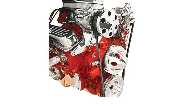 Nueva Billet Specialties SBC Vortec pulido a/c compresor soporte, montaje superior, para las pequeñas bloque Chevy Vortec corto Bomba de agua: Amazon.es: ...