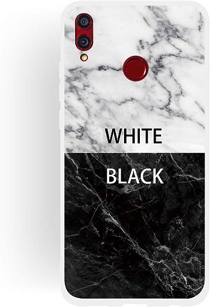 Coque Honor 8X Marbre noir or