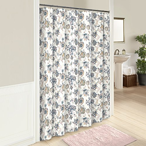 Marble Hill 16747SHWR072MUL Giselle Shower Curtain, 72x72, Multi