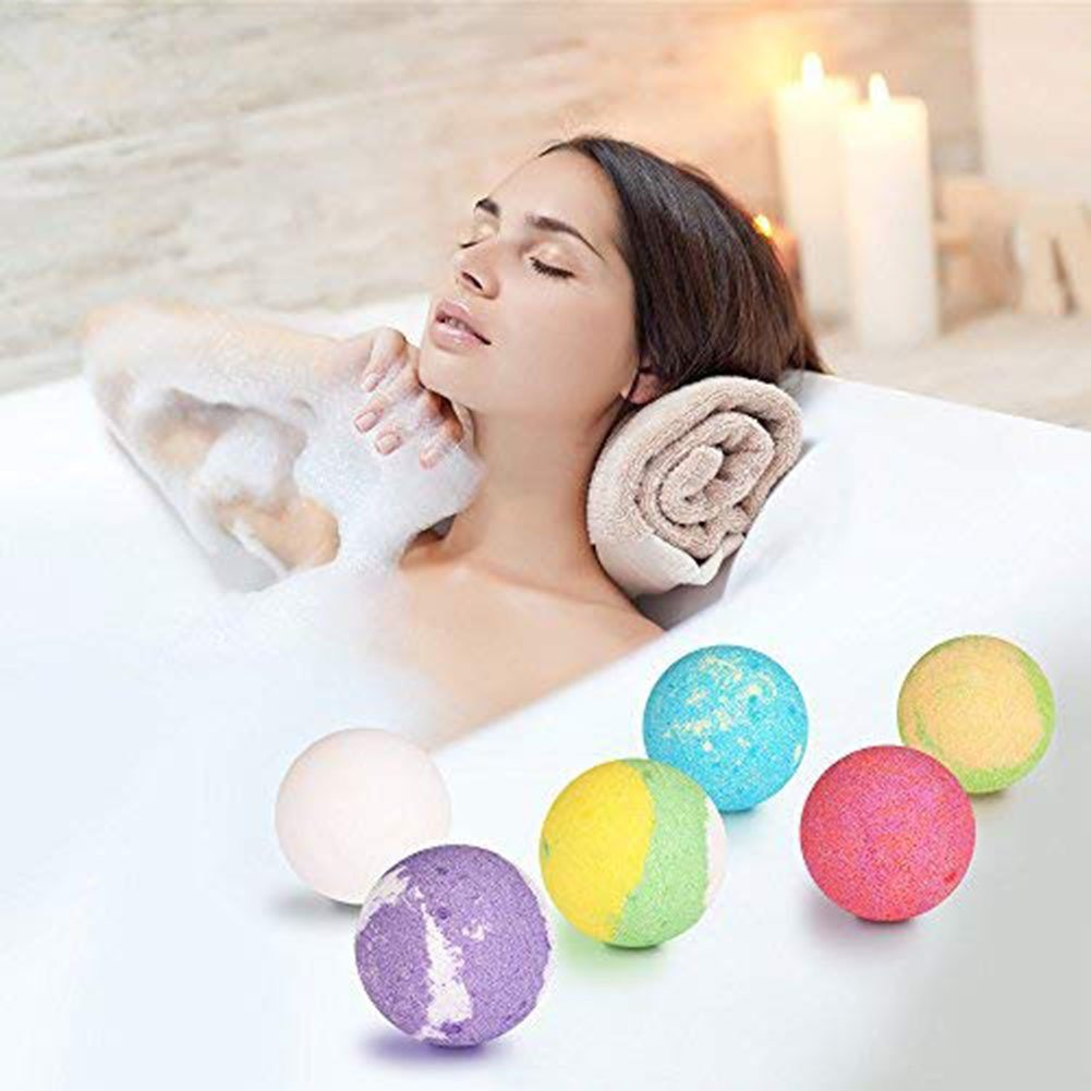 Bath Bombs Gift Wrapped - 6 Sets Natural Organic Essential Oil Bath Bombs for Moisturize Dry Skin- Bath Bomb Kit for Kids
