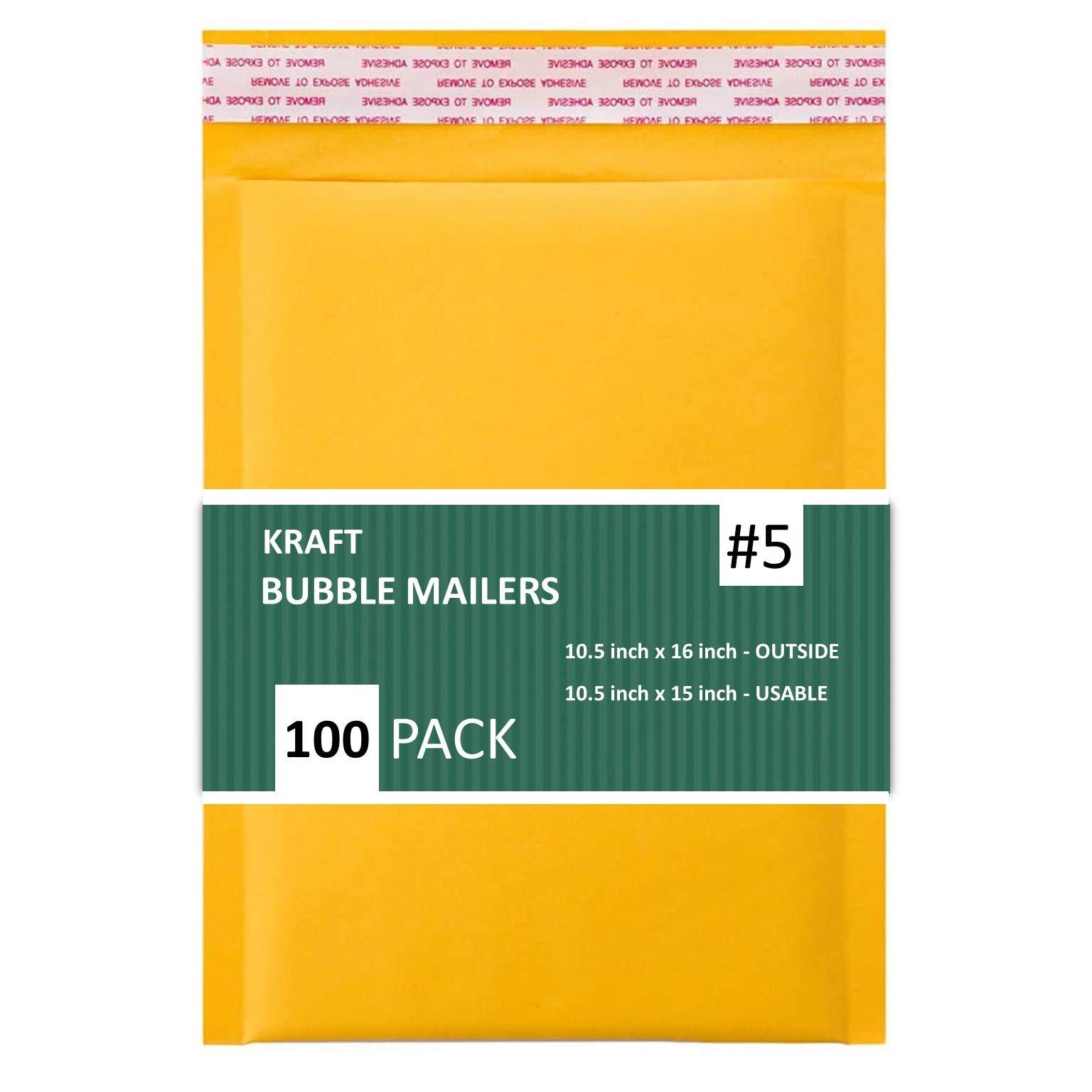 100 Sobres acolchados Con Burbujas amarillos 26.5x40.5cm