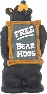 DEMDACO Free Bear Hugs Black Bear 4.5 x 2.5 Hand-cast Resin Figurine Sculpture