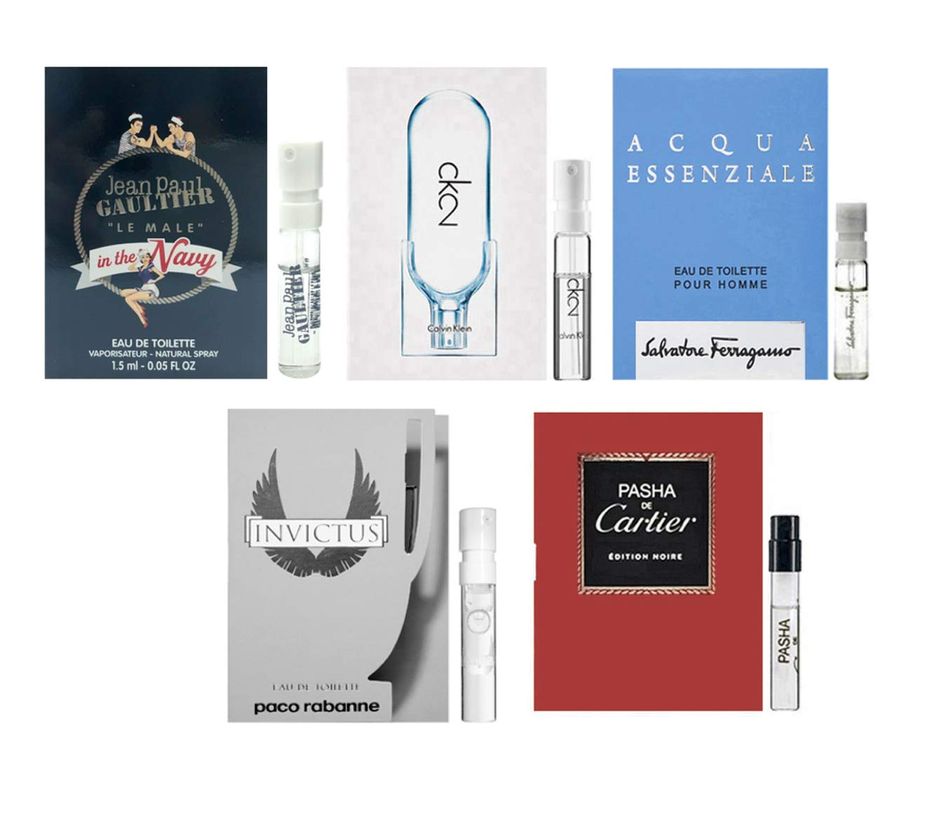 Men's cologne sampler set - ALL High end Designer perfume sample Lot x 5 Cologne Vials by Bellacollection