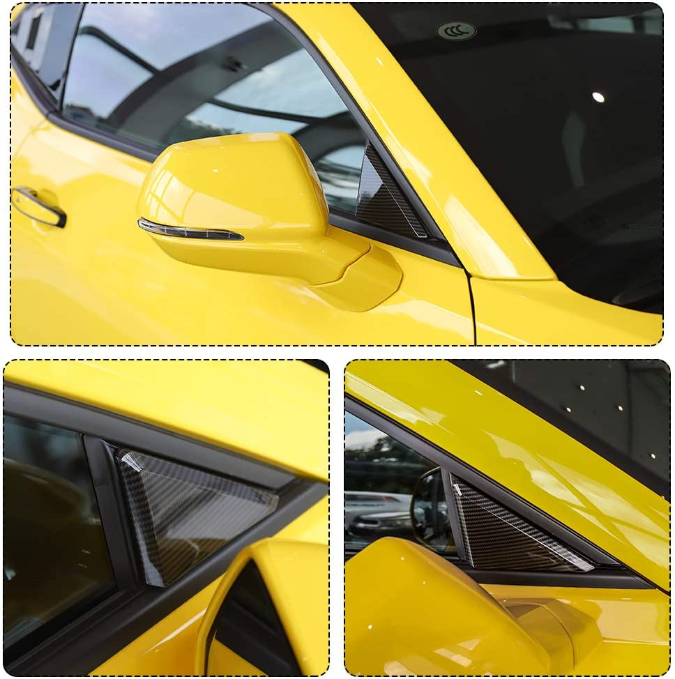 RT-TCZ Carbon Fiber Car Front Window Triangle Cover Frame for Chevrolet Camaro 2017-2018