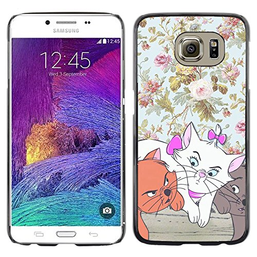 Plastic Shell Protective Case Cover || Samsung Galaxy S6 SM-G920 || Wallpaper Cartoon Cat @XPTECH