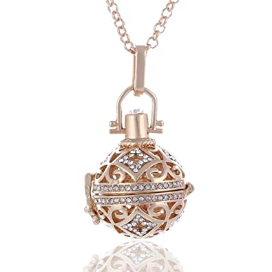 Amazoncom Hollow Cage Pendant Locket Necklace Box Necklace