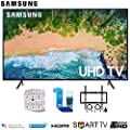 Samsung NU7100 Smart 4K UHD TV 2018 w/Wall Mount + Cleaning Kit