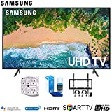 Samsung 43NU7100 43' NU7100 Smart 4K UHD TV 2018 with Wall Mounting + Cleaning Kit (UN43NU7100)