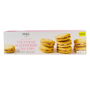 M&S / Marks & Spencer | All Butter Viennese Raspberry Cream Biscuits 125g | From the UK