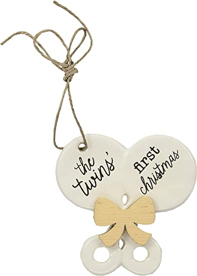 06d47785883 Image Unavailable. Image not available for. Color  Mud Pie Unisex Twin Baby s  First Christmas ...