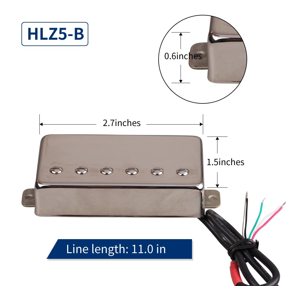 Hlz5 Double Conductor Coil Wire Electric Guitar Humbucker Pickup For How To An Lpsg Replacement Jd