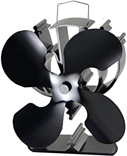 Amazon.com: Wood Stove Heat Powered Fan – Powerful 5 Blades ...