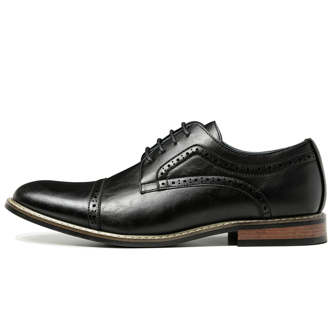 bca9c590365a ZRIANG Men's Classic Cap Toe Lace-up Oxford Dress Shoes