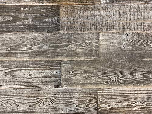 - Smart Paneling 11332 Old Barn Accent Wall Wood Planks, Gray, 14 Piece