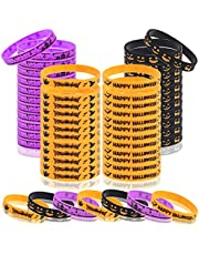 48 Pieces Halloween Silicone Bracelets Wizard Rubber Wristbands-Witch Spider Pumpkin Ghost Rubber Bands for Halloween arty Supplies Trick or Treat Gifts for Kids Candy Bags, Carnival/Events Supplies