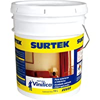 Surtek SP20400 Pintura Vinílica, color Blanco, 19 l