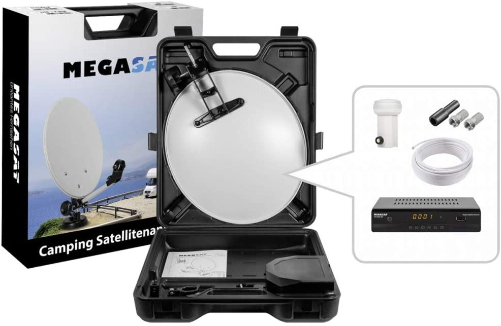 Megasat 9101628 - Antena (Negro, Blanco, 40 cm, 410 mm, 500 ...