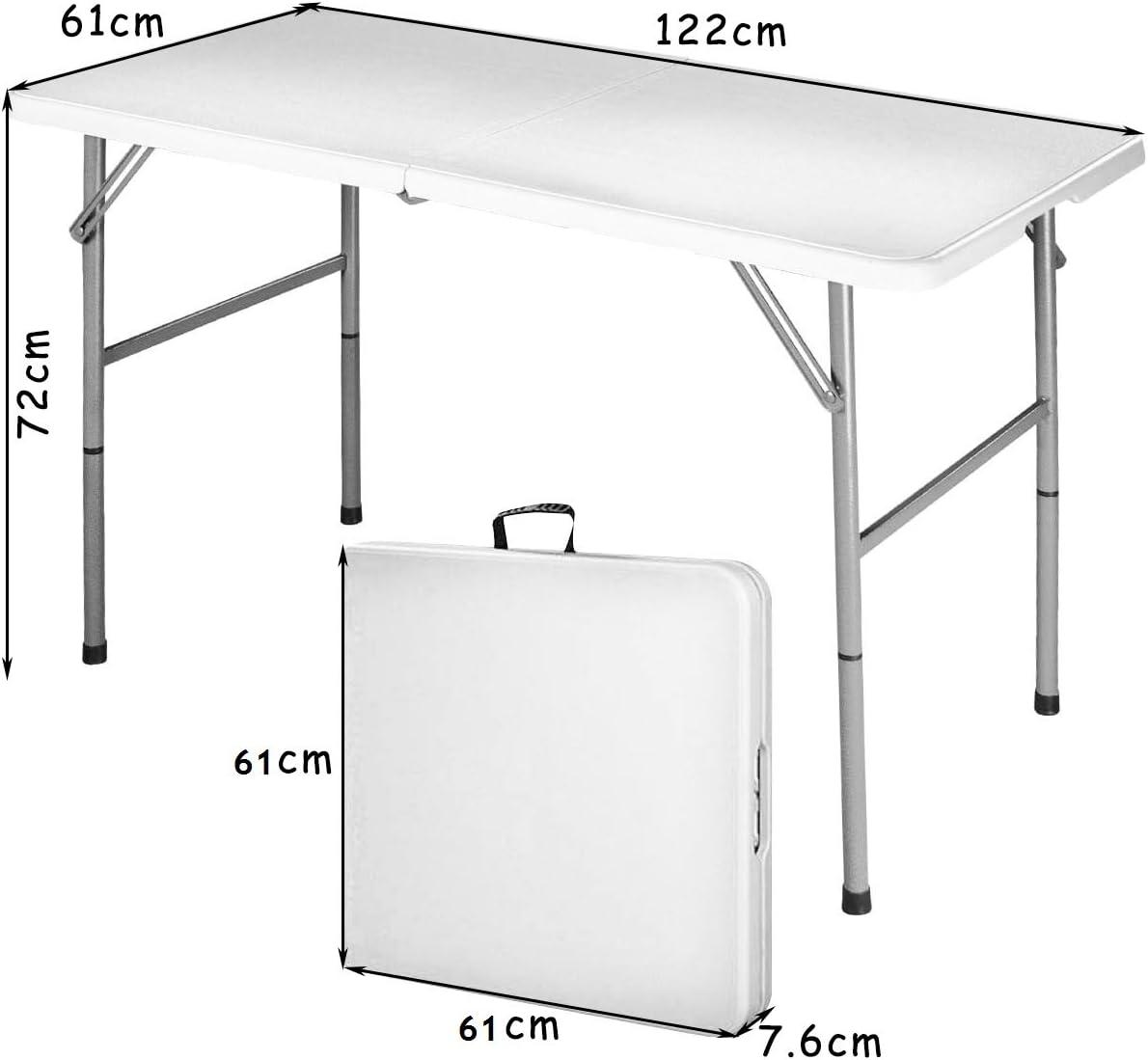 Mesa plegable Mesa de camping cerveza mesa maletín mesa comedor mesa plegable mesa de jardín Balcón Mesa: Amazon.es: Juguetes y juegos