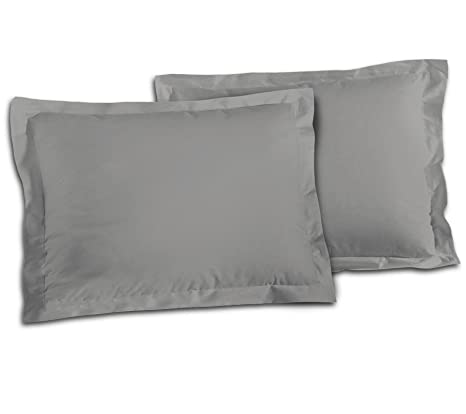 2 Stück Kissenbezug Kissenhülle 50 x 70 cm beige Uni Baumwolle