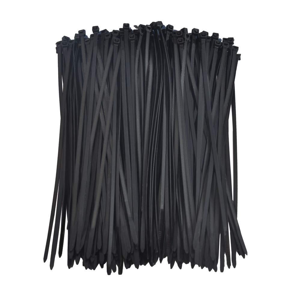 Cable Zip Ties 12 HOOYEE Multi Purpose Strong Nylon Zip Ties Pack of 200 12 Inch With Self Locking Cable Ties Black