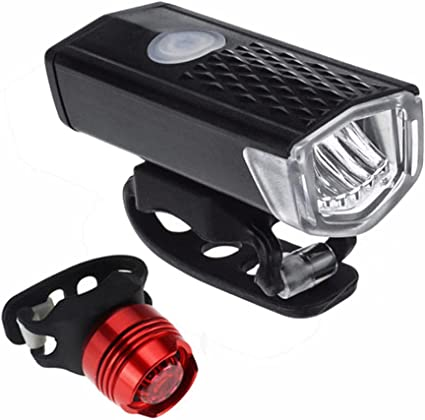 Comes with Free Back Taillight, Ascher Ultra Bright USB Rechargeable Bike Light