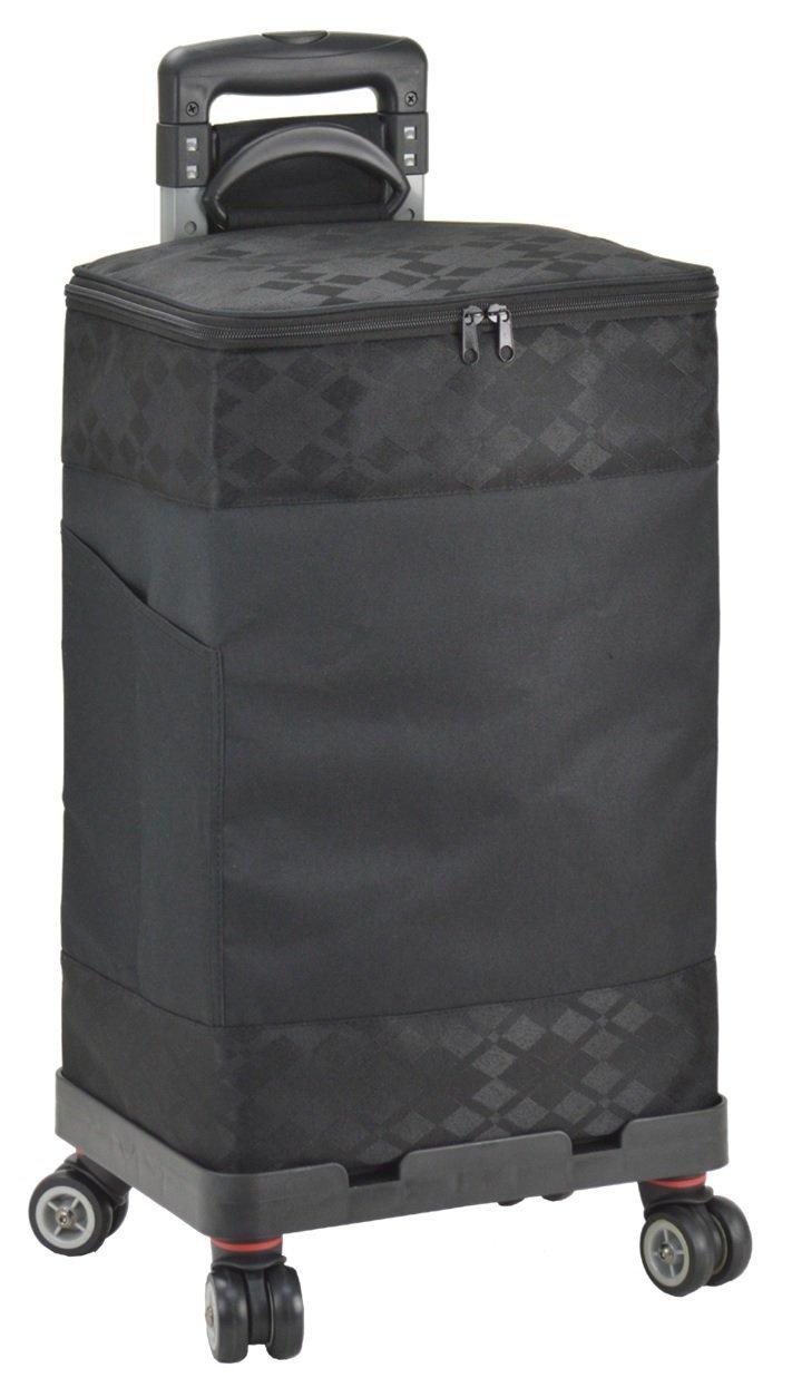 ショッピングカート ショッピングキャリーカート 4輪 保温保冷 33L (黒/黒) B0777PC32B黒/黒