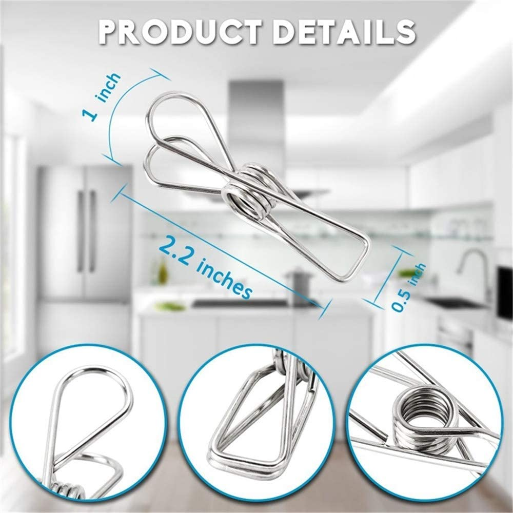 Unilive Multifunctional Stainless Steel Wire Clothespins Clips Clamps for Laundry Clothes Drying Clip Utility Clips Hooks Heavy Duty Clothespin/&Decorative Clothespins 60pcs