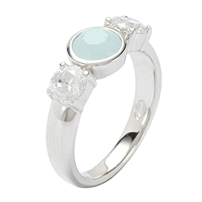 76554c512 Fossil JF17936040 925 Sterling Silver Ring green: Amazon.co.uk: Jewellery