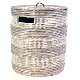 Silver African Sahara Basket with Lid
