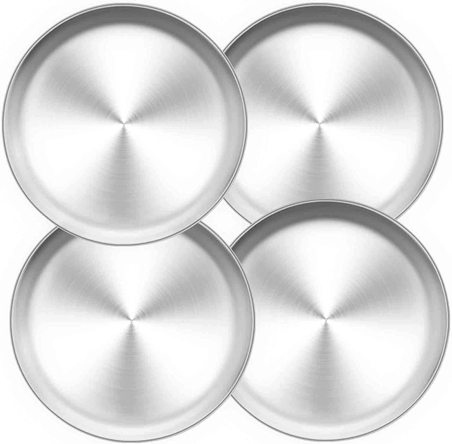 TeamFar Pizza Pan Healthy /& Heavy Duty 2 Piece 13.4 inch Stainless Steel Pizza Pan Set Large Pizza Oven Pans Tray for Baking Serving Oven /& Dishwasher Safe
