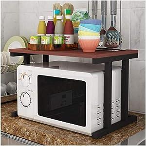 ALF Microwave storage rack Kitchen racks, household appliances, microwave oven racks, seasoning racks, kitchen supplies, storage racks Kitchen shelf (Color : H)