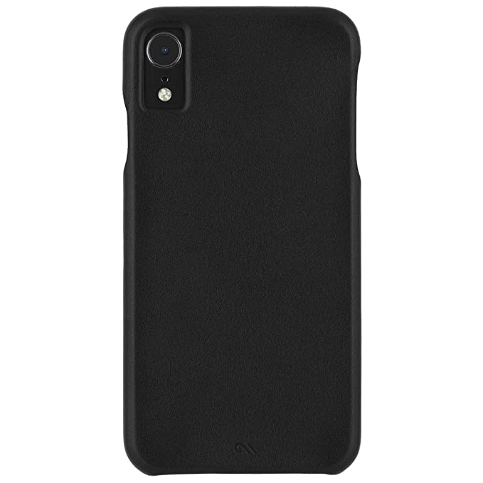 hot sale online 5df84 69faf Case-Mate - iPhone XR Case - BARELY THERE LEATHER - iPhone 6.1 - Black  Leather