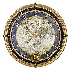 Aspire Wall Clock Ramona Old Map, Gold