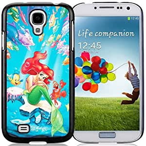 Fashionable Galaxy S4 Case Design with The Little Mermaid Cell Phone Cover Case for Samsung Galaxy S4 SIV S IV I9500 I9505 in Black