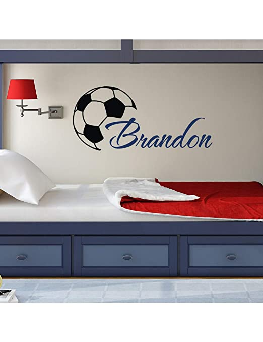 GCXZZ Cool Football Boys Name Tatuajes De Pared con Balón De ...