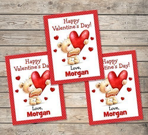 amazon com kids valentine cards personalized valentine cards