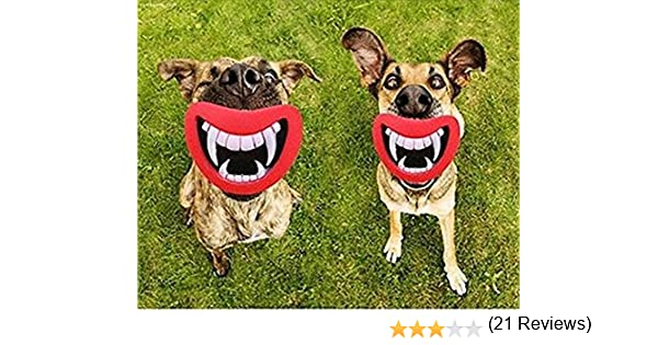 Hosaire Juguete Divertido para Perro Masticar Morder Limpiar Dientes de Silicona/PVC Chirrido de Sonido Juguetes, Rojo Labios