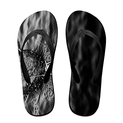 9ee084fb9304db Jinqiaoguoji Custom Casual PPT Background Ink Painting Water Boat Womens  Sandals Beach Sandals Pool Party Slippers