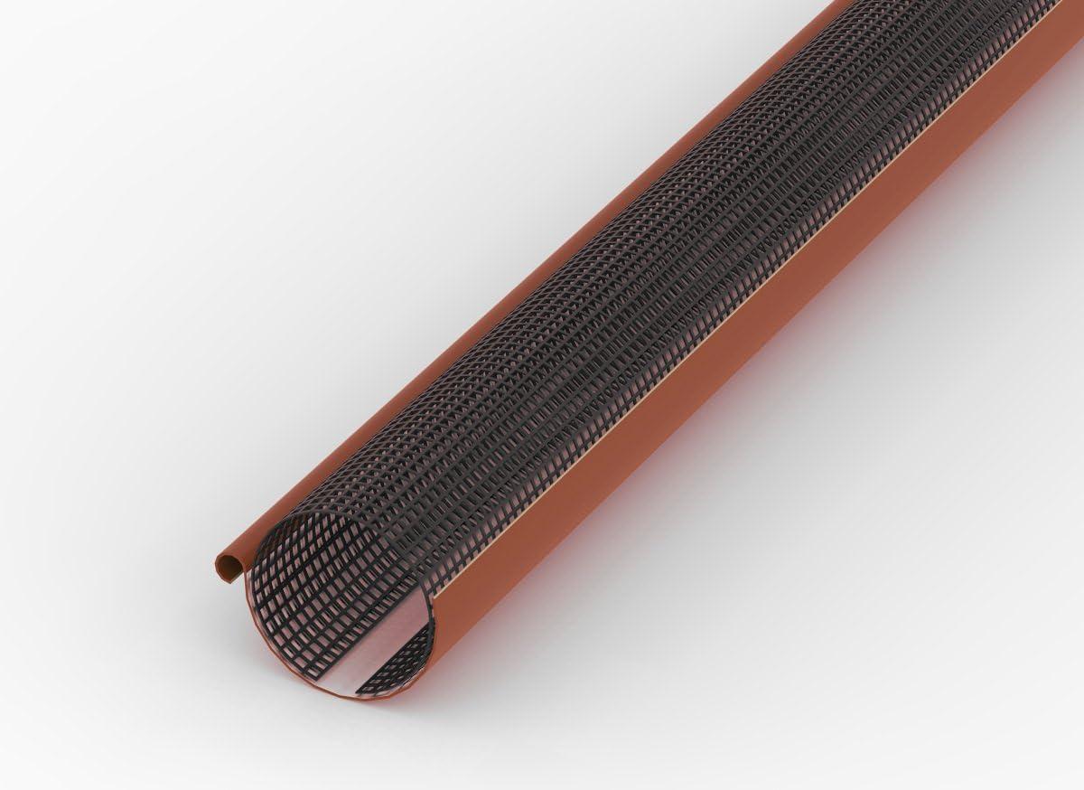 Grille de protection pour goutti/ère feuillus feuillus Arr/êt 2/m de long marron 100/mm de 125/mm Lot de 10