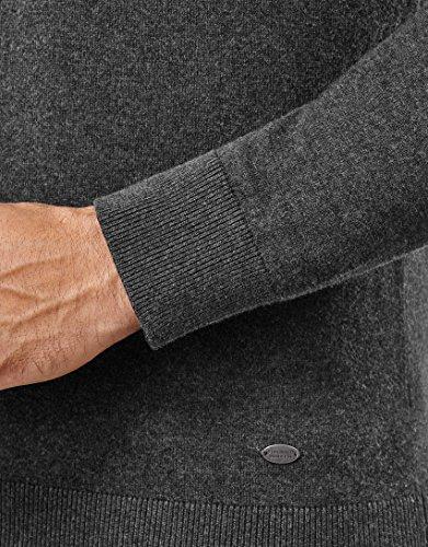 Coupe Tricoté Classique 2 Pull Homme Pour anthracite L'automne Encolure En Chaud Uni L'hiver Chic over Boretti Manche V Et longue Étroite Vincenzo qtnRY8q