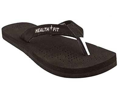 8db90ae09 Healthfit Health FIT Men's Rubber Black Diabetic & Orthopedic Footwear  HF1101BL 10