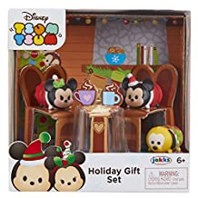 Tsum Tsum 64790 Exclusive Holiday Mickey & Minnie Gift Set Playset
