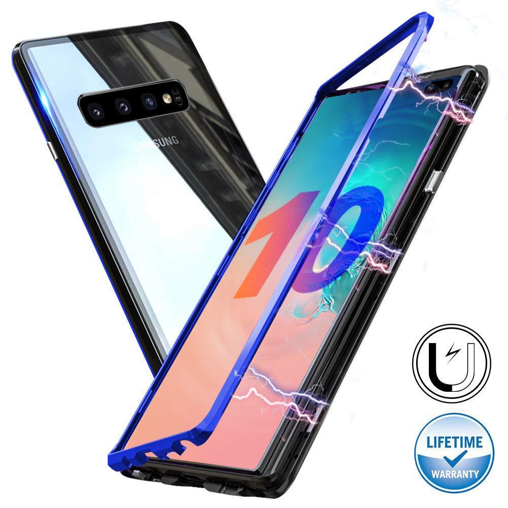 Funda Adsorcion Magnetica Samsung S10 Negro-azul Haobuy